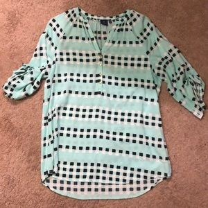 seafoam women's blouse